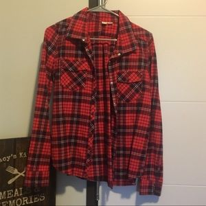 Roxy red flannel